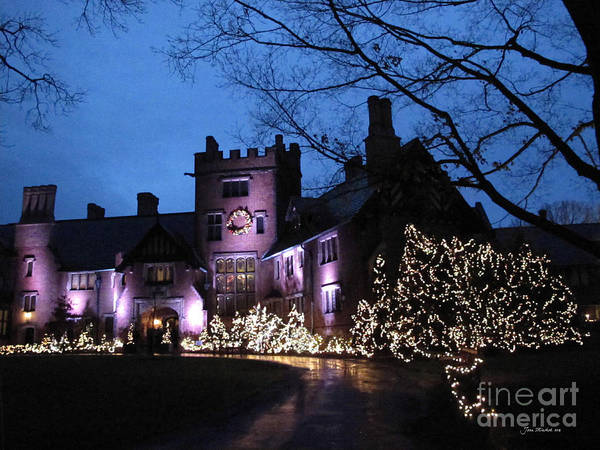 Charles Mansion Photograph - Stan Hywet Hall And Gardens Christmas  by Joan  Minchak