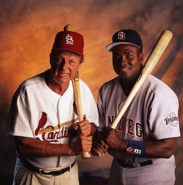 Wall Art - Photograph - Stan Musial And Tony Gwynn by Retro Images Archive