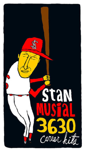 St Louis Cardinals Mixed Media - St Louis Cardinals - Stan Musial - Baseball Hall Of Fame - Cooperstown by Jay Perkins