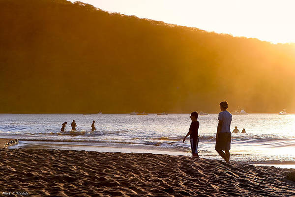 Photograph - Stand By Me - Costa Rica - Sunset Beach by Mark Tisdale