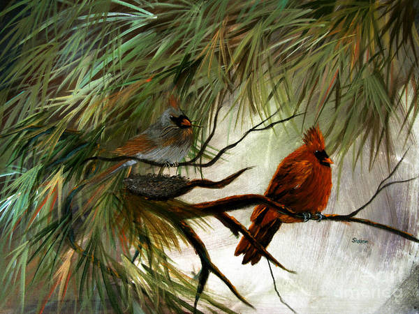 Pine Needles Painting - Stand By Me by Sharon Burger