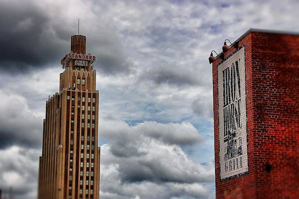 Photograph - Standard Life And Iron Horse Buildings by Jim Albritton