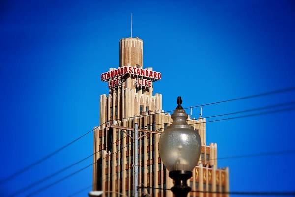 Photograph - Standard Life Building And Light by Jim Albritton