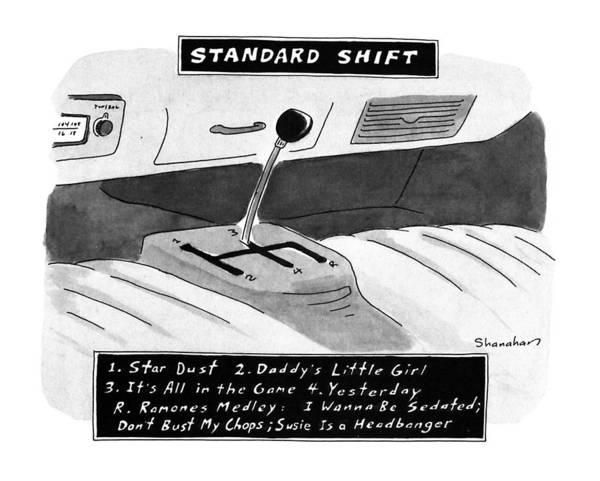 January 8th Drawing - Standard Shift by Danny Shanahan