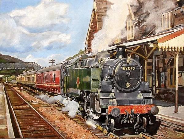 Steam Locomotives Photograph - Standard Splendour, 2008 Oil On Canvas by Kevin Parrish