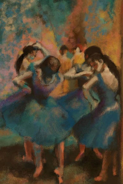 Digital Art - Standing Ballerinas by Lauren Heller