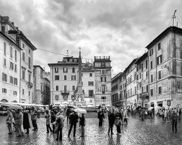 Photograph - Standing In A Classic Roman Piazza by Mark E Tisdale