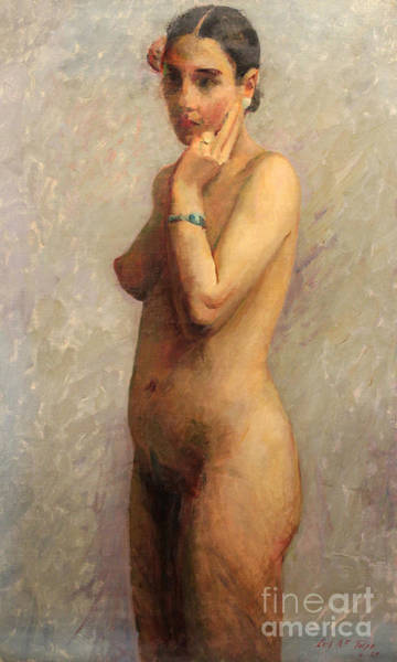 Painting - Standing Nude 1929 by Art By Tolpo Collection