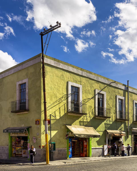 Wall Art - Photograph - Standing On A Street Corner In Puebla by Mark Tisdale