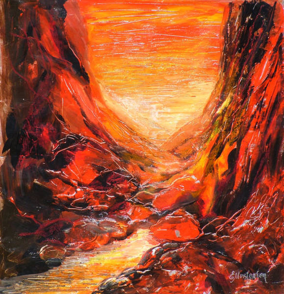 Wall Art - Painting - Standley Chasm 2012 by Ekaterina Mortensen