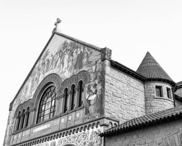Photograph - Stanford Memorial Church In Black And White by Priya Ghose