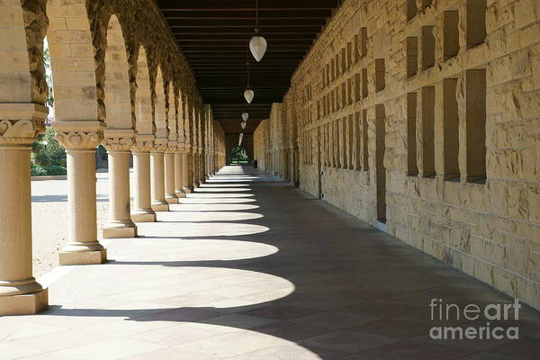 Photograph - Stanford University Main Quad Palo Alto California Dsc678 by Wingsdomain Art and Photography