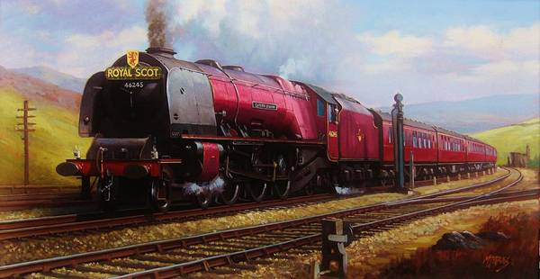 Trains Painting - Stanier Pacific On Shap. by Mike Jeffries