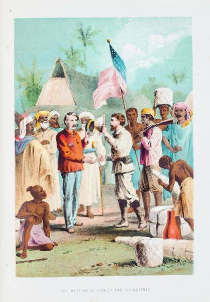 Porter Photograph - Stanley Meeting Livingstone by Gustoimages/science Photo Libbrary