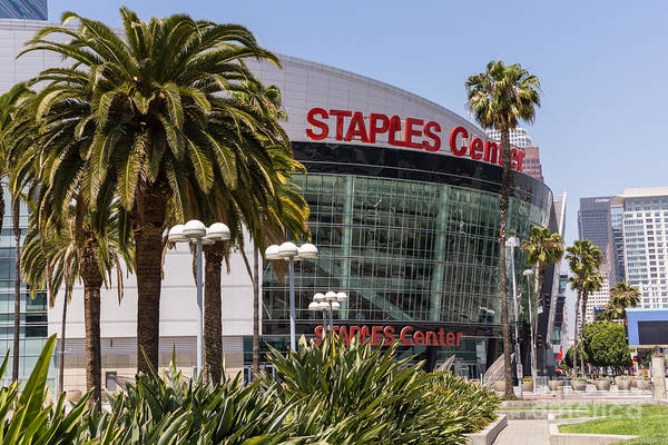 Editorial Photograph - Staples Center In Los Angeles California by Paul Velgos