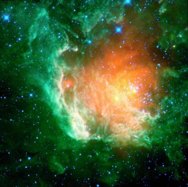 Infrared Radiation Photograph - Star-birth Region by Nasa/jpl-caltech/ucla/science Photo Library