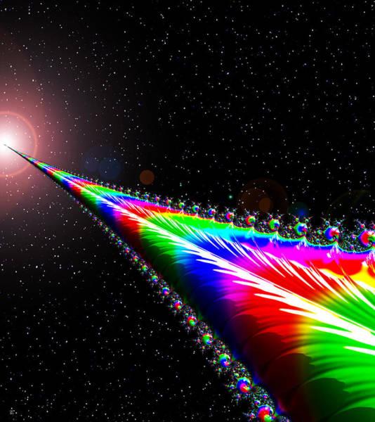 Deep Space Mixed Media - Star Bridge by Cj Grant