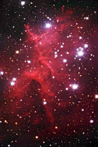 Star Cluster Mel-15 In Nebula Ic1805 Art Print