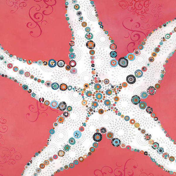 Sea Star Painting - Star Fish Coral by Jennifer Peck