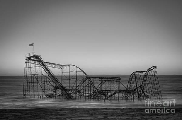 Nikon Wall Art - Photograph - Star Jet Roller Coaster Bw by Michael Ver Sprill