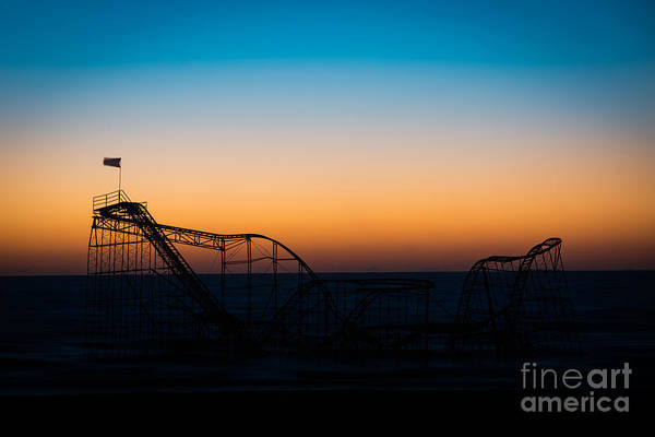 Nikon Wall Art - Photograph - Star Jet Roller Coaster Silhouette  by Michael Ver Sprill