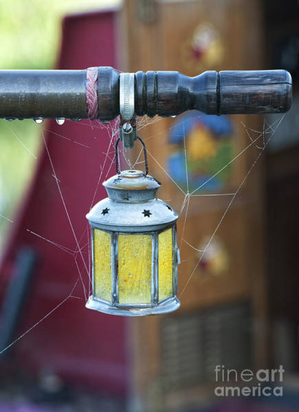 Photograph - Star Lantern On Narrowboat Tiller by Tim Gainey