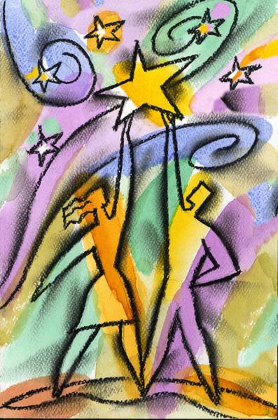 Partner Painting - Star by Leon Zernitsky