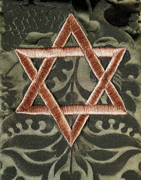 Wall Art - Photograph - Star Of David Jewish Hebrew Embroidery by Vintage Images