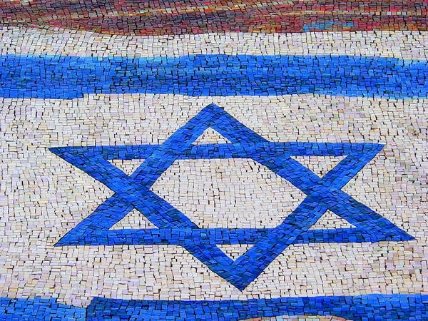 Photograph - Star Of David Mosaic by Jeff Lowe