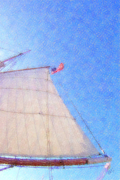 Photograph - Star Of India. Flag And Sail by Ben and Raisa Gertsberg