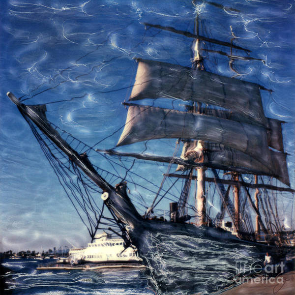 Star Of India Ghost Ship Art Print
