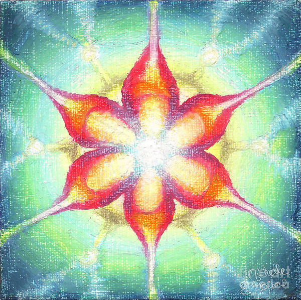 Cosmos Drawing - Star Of Metatron by Michelle Bien