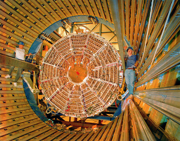 Subatomic Particle Photograph - Star Particle Detector by Brookhaven National Laboratory/science Photo Library