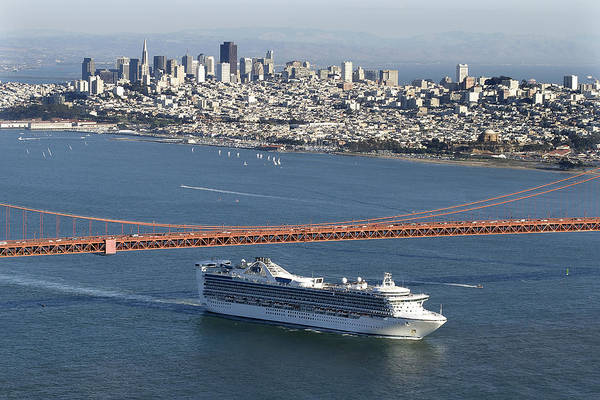 Photograph - Star Princess San Francisco by Wes and Dotty Weber
