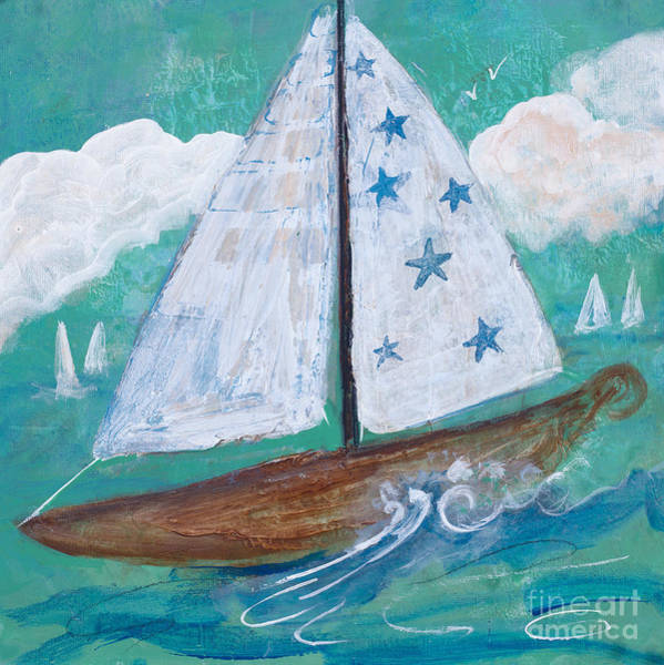 Painting - Star Sail by Robin Maria Pedrero