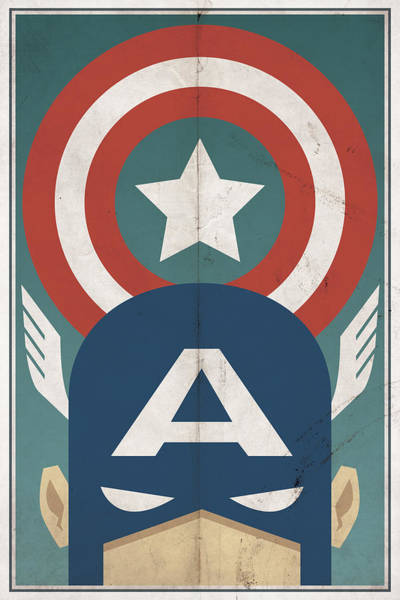Vintage Wall Art - Digital Art - Star-spangled Avenger by Michael Myers