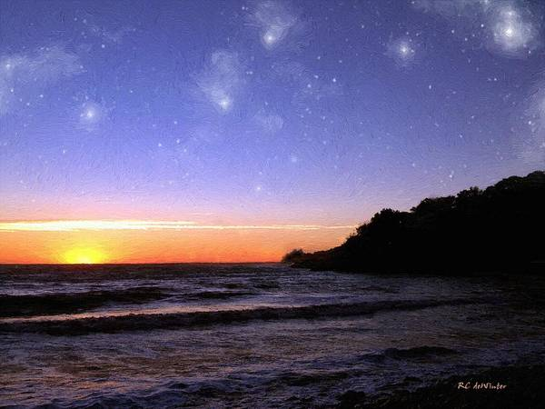 Painting - Star-spangled Sunset by RC DeWinter