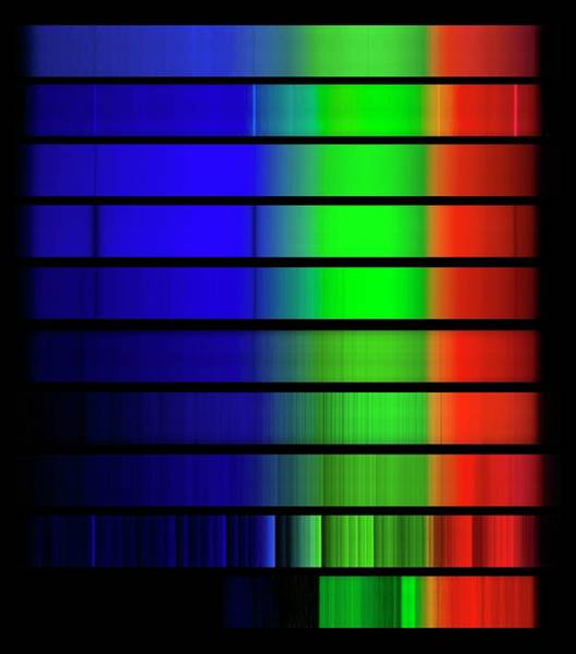 Beta Radiation Photograph - Star Spectra by Dr Juerg Alean/science Photo Library