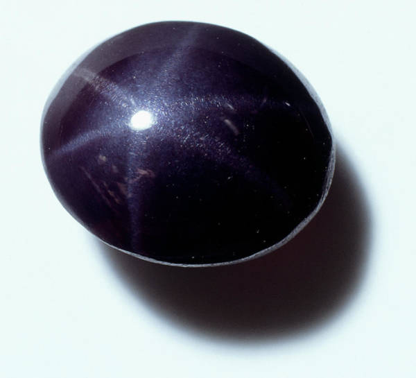 Glossy Photograph - Star-stone Carbochon Spinel by Dorling Kindersley/uig