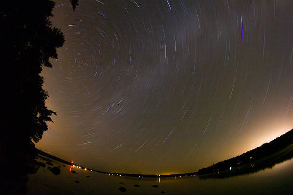 Photograph - Star Swirls Over Branch Lake by Kirkodd Photography Of New England