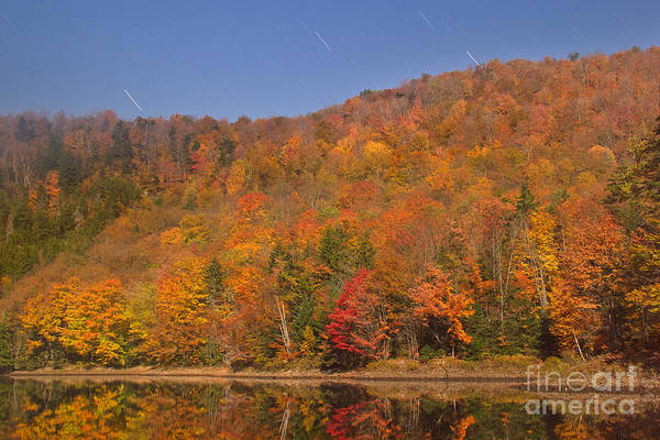Photograph - Star Trails And Autumn Colors by Charles Kozierok