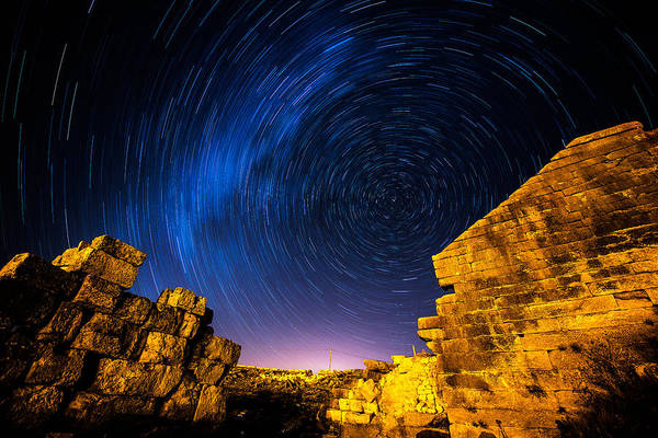 Photograph - Star Trails At Aizanoi-2 by Okan YILMAZ