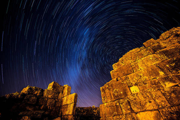Photograph - Star Trails At Aizanoi by Okan YILMAZ