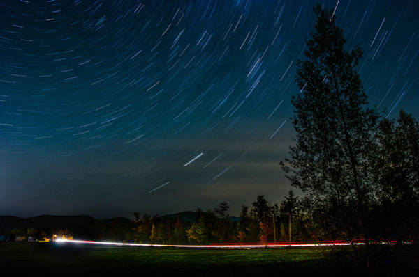 Photograph - Star Trails Car Trails by Jennifer Kano