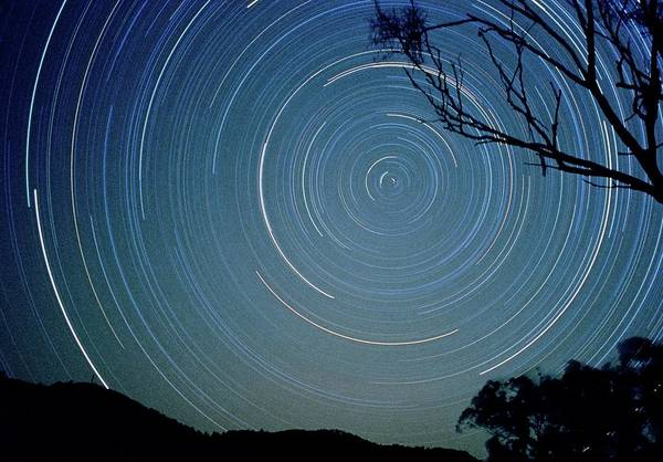 Southern Hemisphere Wall Art - Photograph - Star Trails In The Southern Hemisphere by Gordon Garradd/science Photo Library
