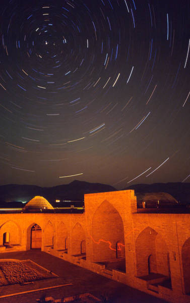 Star Track Wall Art - Photograph - Star-trails Over Deh Namak by Babak Tafreshi/science Photo Library
