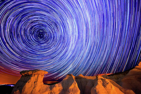 El Paso County Photograph - Star Trails Over The Colorado Paint by Photo By Matt Payne Of Durango, Colorado