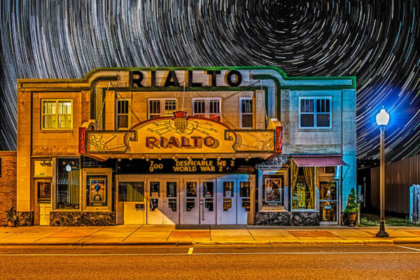 One Of A Kind Photograph - Star Trails Over The Rialto by Paul Freidlund