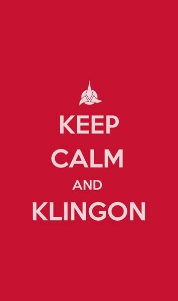 Tv Wall Art - Digital Art - Star Trek - Calm Klingon by Brand A