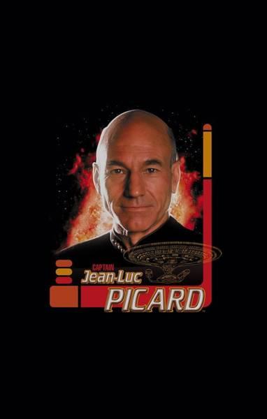 Shows Digital Art - Star Trek - Captain Picard by Brand A